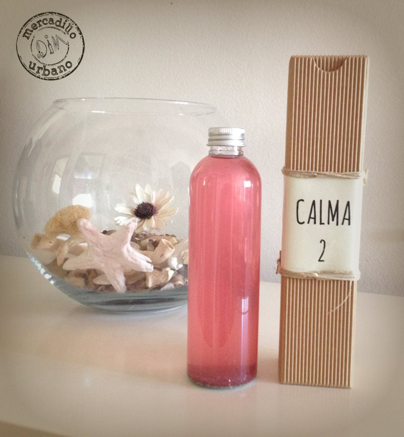 Botella de la calma estilo Montessori, rosa, de Mercadillo Urbano DIM, Madrid España