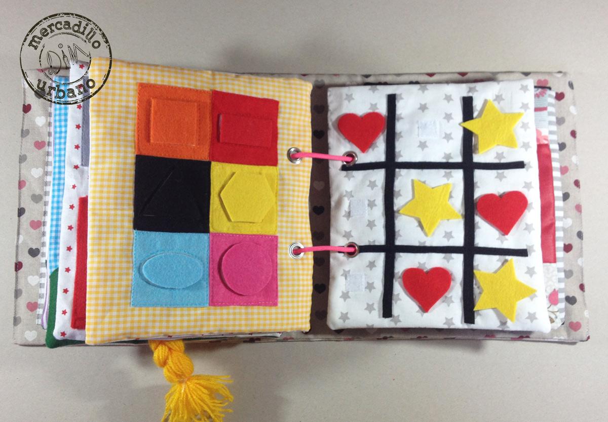 QUIETBOOK libro de actividades para niños y niñas estilo Montessori pag 11-12