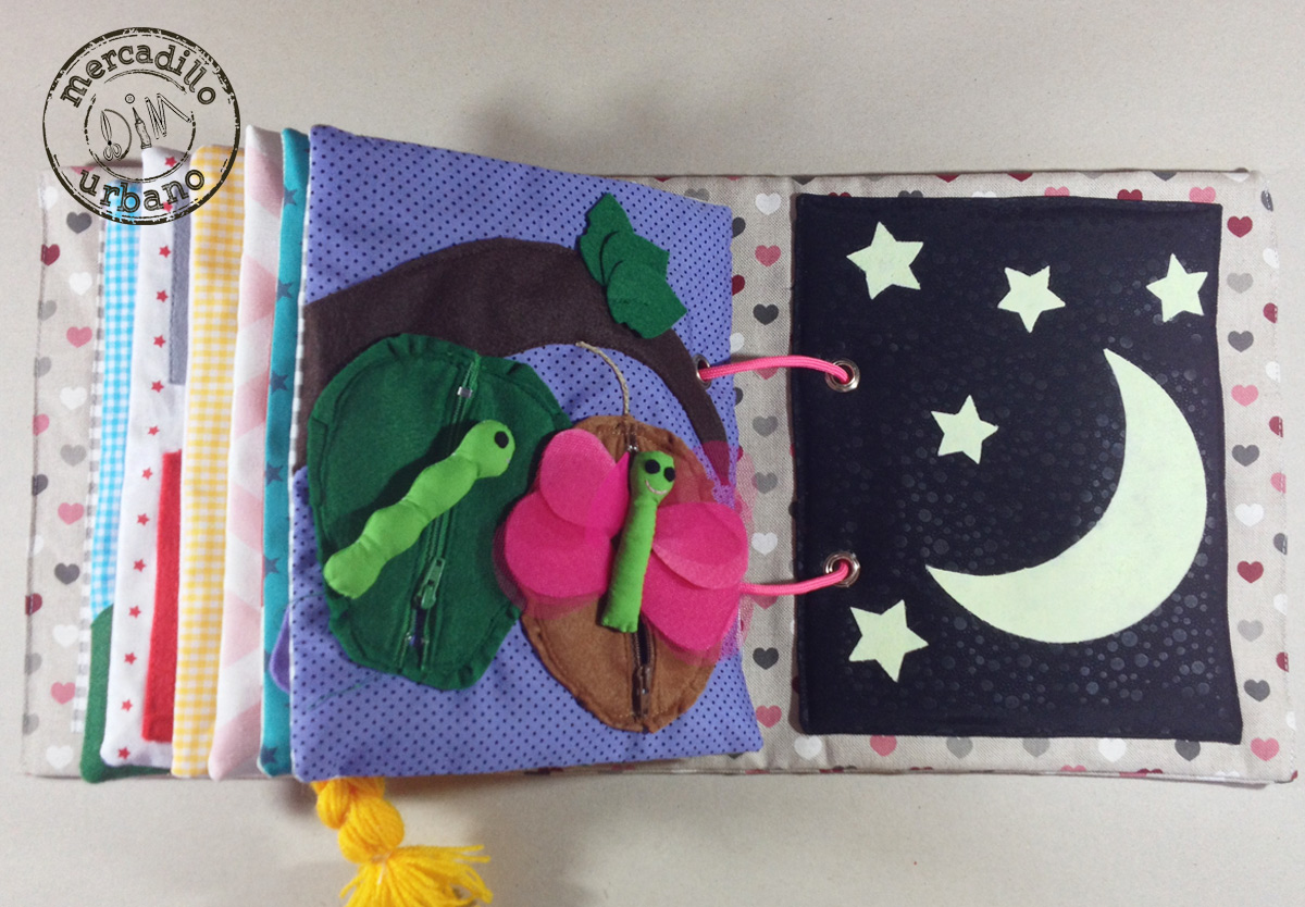 QUIETBOOK libro de actividades para niños y niñas estilo Montessori pag 17-18