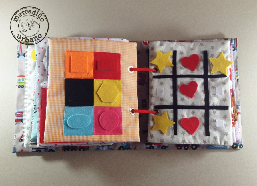 QUIET BOOK libro de actividades para niños estilo Montessori pag 11-12