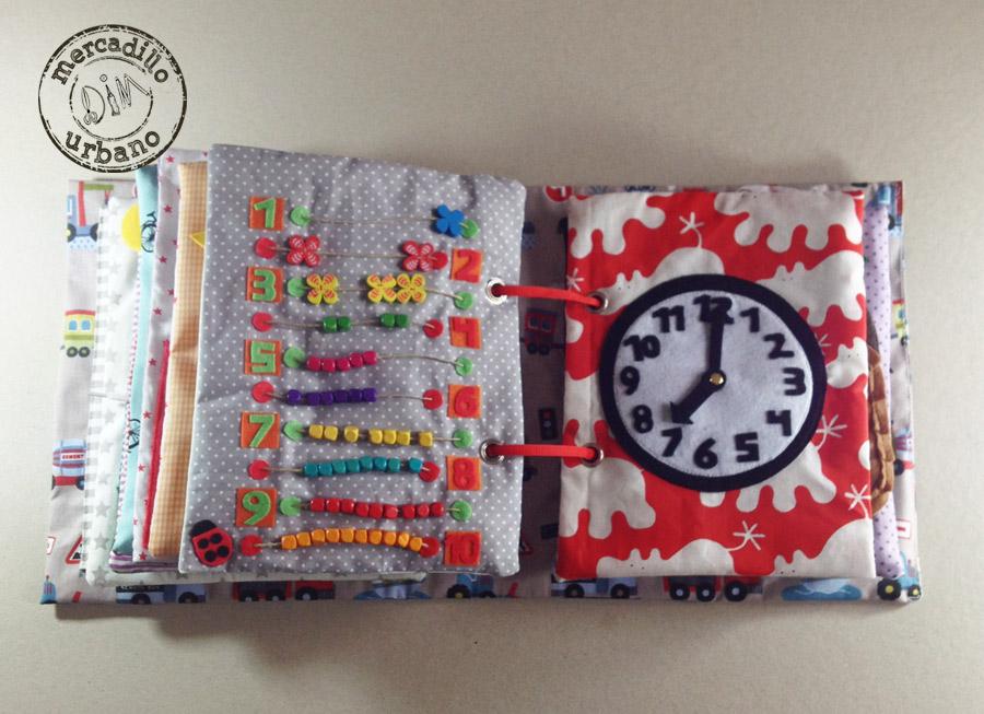 QUIET BOOK libro de actividades para niños estilo Montessori pag 13-14