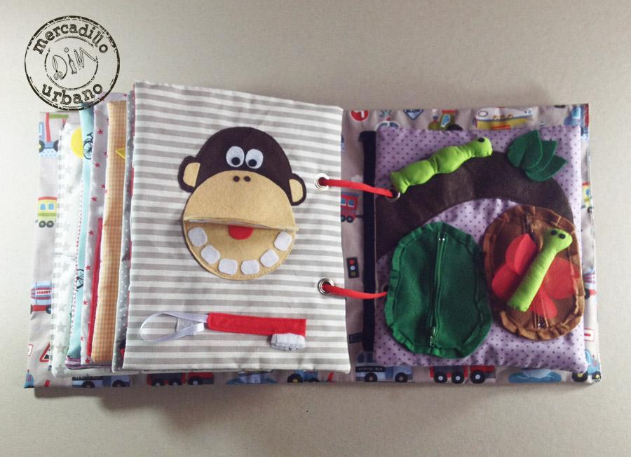QUIET BOOK libro de actividades para niños estilo Montessori pag 15-16