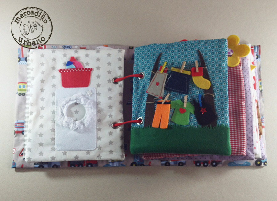QUIET BOOK libro de actividades para niños estilo Montessori pag 3-4