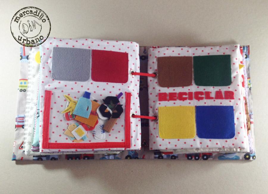 QUIET BOOK libro de actividades para niños estilo Montessori pag 9-10