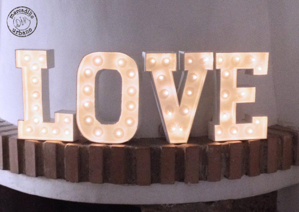 marquee luz de noche letras LOVE