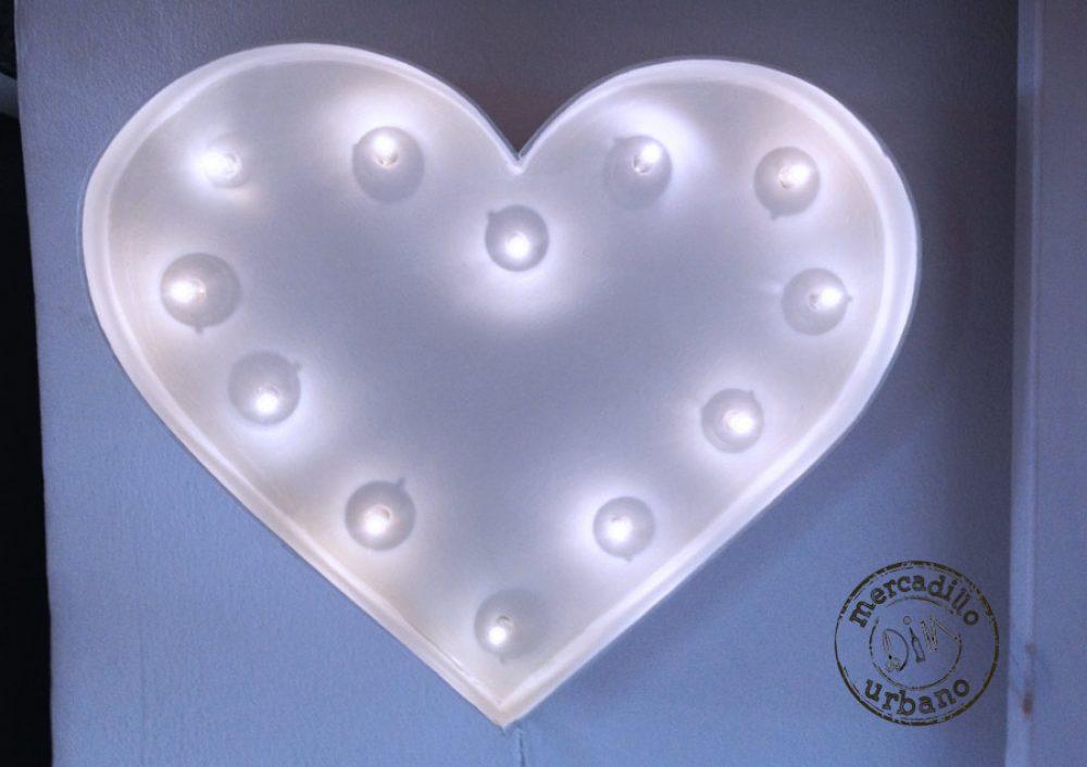 marquee luz de noche corazón