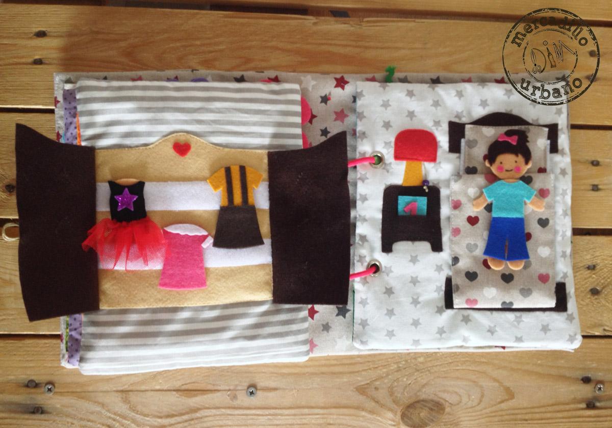 Quiet Book libro de actividades estilo Montessori libro sensorial para niños y niñas